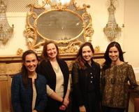 Arts' Night Out Co-chairs: Abigail Starliper, Maggie Moore, Emily Collins, and Lydia Melamed Johnson