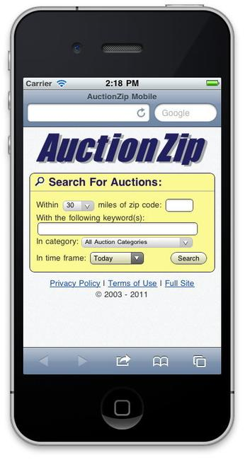 AuctionZip Mobile