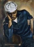 Hughie Lee-Smith, Navy Sailor, 1944, oil on canvas, 24 x 18 inches, courtesy Arthur Primas Collection