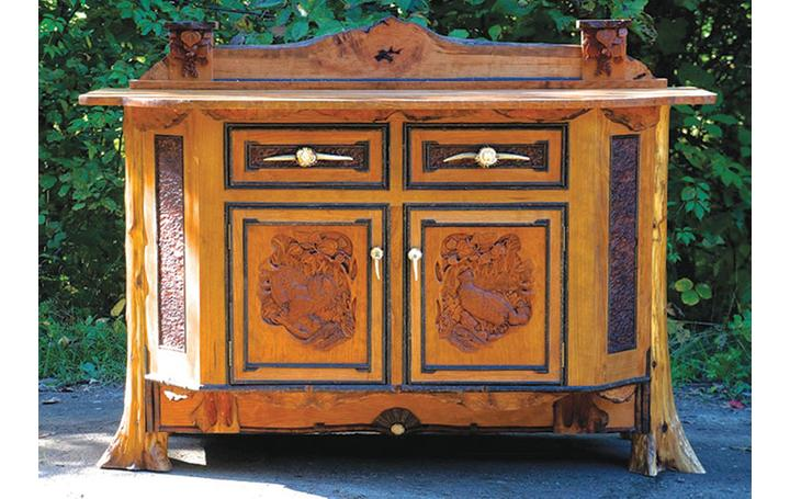 See handcrafted rustic furniture and furnishings like this piece by L.  Post Rustics at the 28th Annual Rustic Furniture Fair on Saturday and Sunday, Sept 12 and 13, at the Adirondack Museum in Blue Mountain Lake, N.Y.