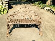 "At the Adirondack Museum's Antiques Show and Sale, Saturday and Sunday, Sept.  19 and 20, displays will include authentic historic Adirondack pieces, including this century-old bench with unusual ""paw feet,"" from Appleton Manor Antiques (New Ipswich, N.H.)."