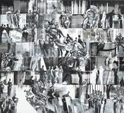 Ahmad Moualla, Untitled, 2011, Mixed media on canvas,440 x 400 cm