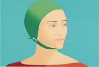 Alex Katz, b.  1927.  The Green Cap, (1985).  Wood block, Sheet (Irregular): 17 11/16 x 24 1/8in.  (44.9 x 61.3 cm).  Whitney Museum of American Art, New York; purchase, with funds from the Print Committee 87.17 Art © Alex Katz / Licensed by VAGA, New York, N.Y.  Digital Image © Whitney Museum of American Art, N.Y.