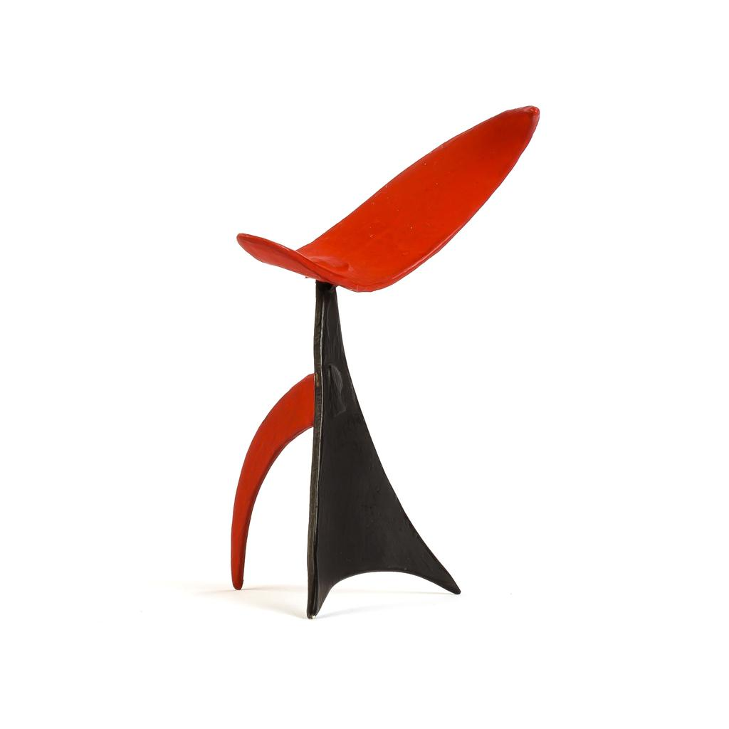 The Cravens collection features a pair of metal stabiles by Alexander Calder, to include this creation, titled Crayfish (est.  $50,000-$80,000).