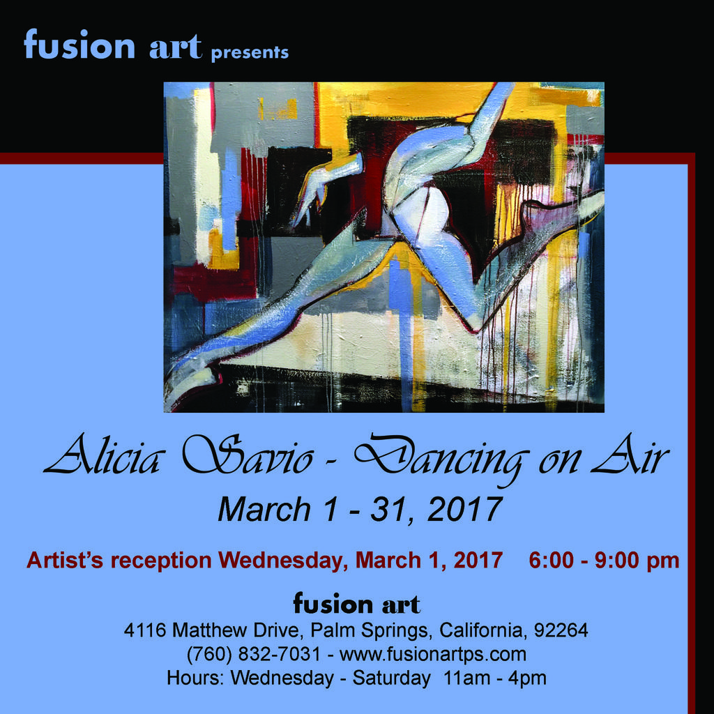 """Dancing on Air"" by Alicia Savio to Open at Fusion Art on March 1, 2017 www.fusionartps.com"