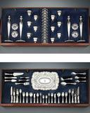This incredible American Silver Dining Service for 12 boasts works crafted by Reed & Barton and Redlich & Co.