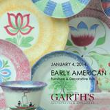 Catalog cover from Garth's January 4th auction of Early American Furniture & Decorative Arts