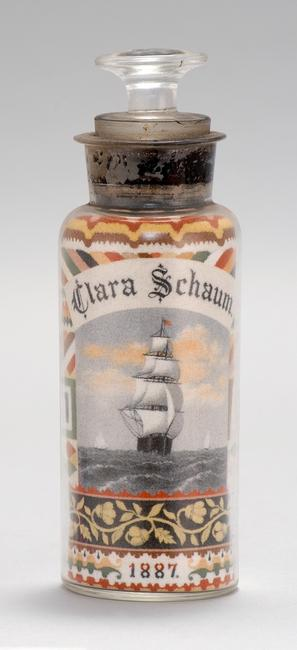 Sand Art Bottle by Andrew Clemens, sold for $72,000 at Eldred's Summer Americana Auction, a world record for the artist.
