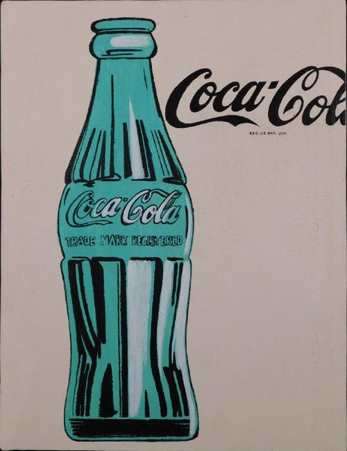 Oil on canvas painting attributed to Andy Warhol (Am., 1928-1987), titled Coca-Cola, 15.75 inches by 12 inches unframed, signed (est.  $30,000-$40,000).