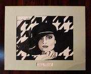 This stylized rendering of the French fashion design icon Coco Chanel, by the equally iconic Andy Warhol (not a print), will be sold August 8th.