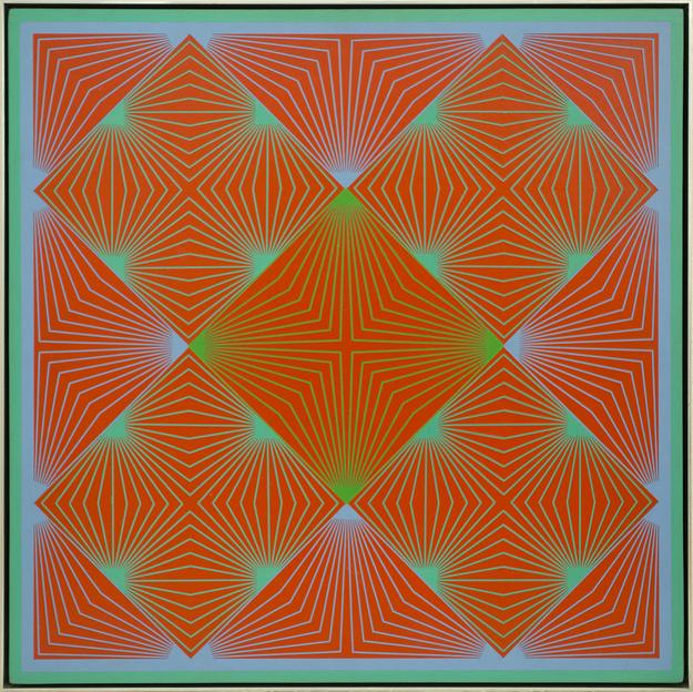 Richard Anusckiewicz, Complimentary Fission, 1964 Acrylic on board, 48h x 48w in