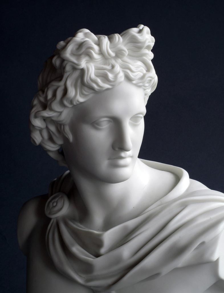 Apollo, a Parian ware figure.