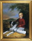 Charles Octavius Cole, Boy with Dog, Portland, Maine, 1850.  Brock & Co., Concord, MA.