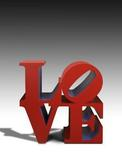 Barcelona-based, Mayoral Galeria d'Art has the iconic work by Robert Indiana, LOVE in painted aluminium 1966-99.