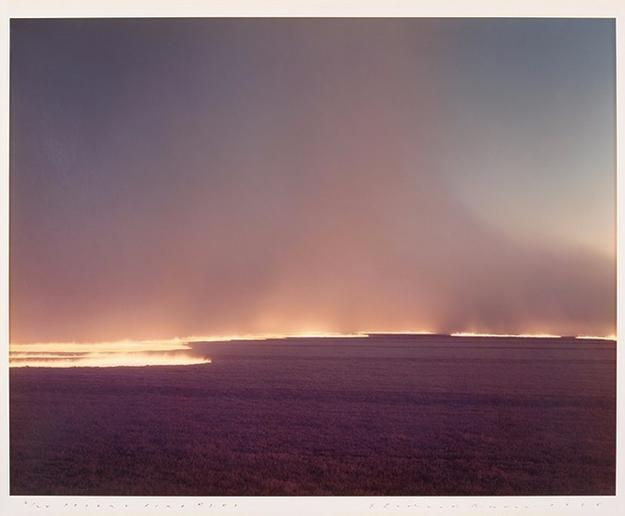 Richard Misrach, Desert Fire #249, 1985, color photograph.  Bank of America Collection.  Photo © Richard Misrach.  Courtesy Fraenkel Gallery, San Francisco.