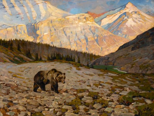 Carl Rungius (1869-1959) Grizzly Bear, oil on canvas, 30 x 40, $250,000-$450,000
