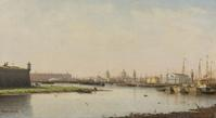 PETR PETROVICH VERESHCHAGIN, 1836-1886, VIEW OF ST.  PETERSBURG, FROM THE COLLECTION OF MIKHAIL BARYSHNIKOV.