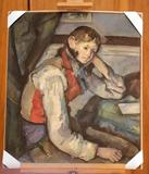 """The Boy in the Red Vest"" painting by French impressionist Paul Cezanne was recovered in Belgrade, Serbia, on April 12, 2012."