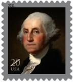 The new stamp features a 1796 portrait of George Washington by Gilbert Stuart (1755-1828) from the Sterling and Francine Clark Art Institutes collection.