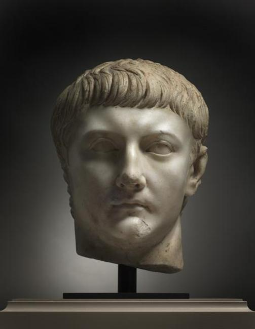 Portrait Head of Drusus Minor, probably after AD 23.  Roman, North Africa.  Marble; h.  35 cm.  Leonard C.  Hanna Jr.  Fund 2012.29.