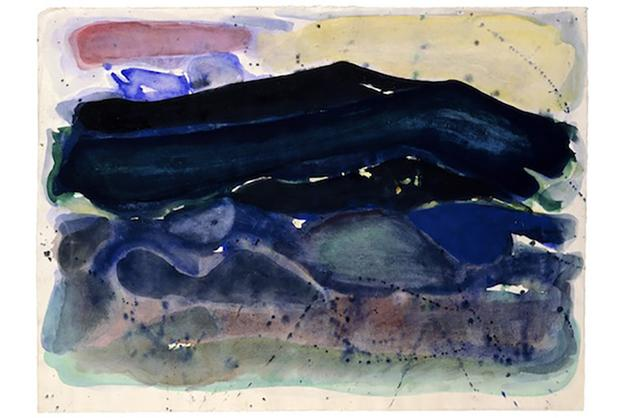 Sam Francis, Untitled [Berkeley], 1948.  Watercolor on paper, 19 x 25 3/4 inches.  SFF4.61.  © 2018 Sam Francis Foundation, California/Artists Rights Society (ARS), New York