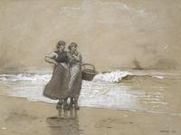 Winslow Homer (1836–1910) Blyth Sands, 1882.  Charcoal, graphite, ink, chalk, and opaque white on paper.  1982.58 .