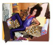 Mickalene Thomas, Racquel Leaned Back, 2013 © Mickalene Thomas.  Courtesy the artist; Lehmann Maupin, New York and Hong Kong; and Artists Rights Society (ARS), New York