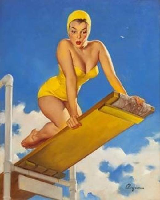Gil Elvgren (shown), Patrick Nagel, Leroy Neiman and Alberto Vargas lead the way, May 14-15, at Heritage Auctions in Beverly Hills