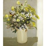 "Fairfield Porter (American, 1907-1975) August Wildflowers, 1965.  Oil on Masonite (In a Kulicke frame) Signed, dated and titled, 11 1/4"" x 9 7/8""."