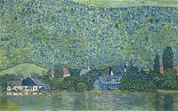 "Klimt's 1915 oil painting ""Litzlberg am Attersee."""