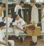 "Norman Rockwell's 1957 painting, ""The Rookie (Red Sox Locker Room)"" will be on loan to the MFA, Boston, prior to going on sale at Christie's on May 22, 2014.  The low estimate is $20 million."