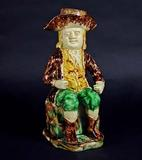 An Extremely Rare English Pottery Toby Jug & Cover, Circa 1785.  Earle Vandekar of Knightsbridge.