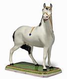 Massive Leeds Pottery Pearlware horse, Circa 1820-30.  From Earle Vandekar of Knightsbridge.