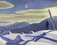 Rockwell Kent (1882–1971), The Trapper, 1921.  Oil on canvas, 34 1/4 × 44 1/4 in.  (87 × 112.4 cm).  Whitney Museum of American Art; purchase 31.258