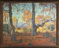 The top lot of the auction was William Wendt's Patriarchs of the Grove, which made $299,000.