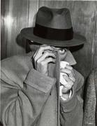 "Bill Wasilevich.  Jimmy ""One Eye"" Collins after Arraignment, 1946.  Gelatin silver print.  Twentieth-Century Photography Fund, 2008, The Metropolitan Museum of Art (2008.125)."