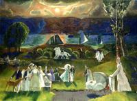 George Bellows (1882–1925), Summer Fantasy, 1924, oil on canvas, 36 × 48 in.
