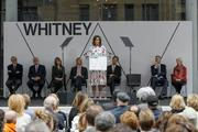 First Lady Michelle Obama at the Whitney dedication ceremony, Apr.  30, 2015.