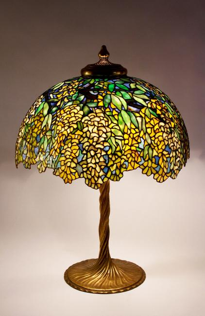 Tiffany Studios Laburnum table lamp, circa 1910.  Courtesy of Lillian Nassau, LLC.