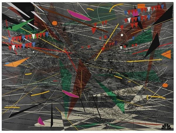 Julie Mehretu, Black Ground (Deep Light).  This work sold for $5.6 million, an auction record for the artist.  A traveling mid-career retrospective for the artist debuts in late 2019.