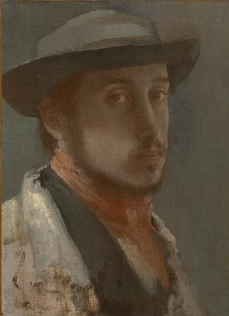 Self-portrait in a Soft Hat, Edgar Degas,1857-1858.  The Sterling and Francine Clark Art Institute.