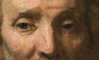 "Detail of ""Portrait of Dirck van Os"" by Rembrandt.  The newly authenticated portrait will be unveiled at the Joslyn Art Museum in May 2014."