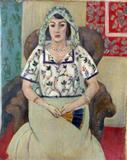 """Seated Woman/Woman Sitting in an Armchair"" by Henri Matisse was found in the Munich Art Trove."