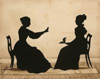 Lucinda Carpenter, Tweeter and Abigail Forrester, 1841, cut paper silhouette, Auguste Edouart, born Dunquerque, France 1789, died Guines, France 1861, Museum purchase 2010.124.2