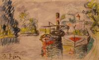 A forgery by Mark Landis of a work by Paul Signac.
