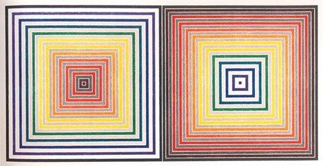 Frank Stella, Double Gray Scramble, Screenprint with colors, 1973.