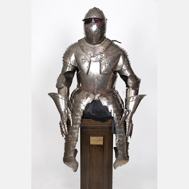 English three quarter suit of armor, c.1630