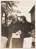 In this photo provided by Alfred Stieglitz/Georgia O'Keeffe archive, Portrait with Georgia O'Keeffe and Alfred Stieglitz by automobile at Lake George, N.Y.