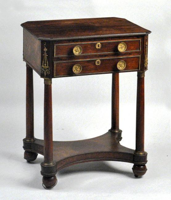 New York Classical Rosewood Work Table