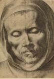 Francisco de Zubaran (1598-1664), Head of a Monk, 1625-64.  Drawing, 277x196 mm.